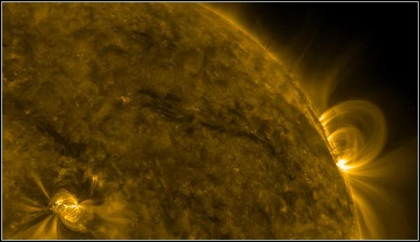 Фото Сонця, космосу і Землі, отримані NASA. Магнітна буря 29 листопада 2010