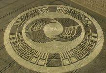 Це коло у вигляді знаменитого календаря Майя був помічений в 2004 році в англійському графстві Вілтшир.