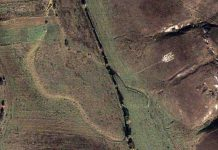 Старий воїн УПА виклав тризуб, який можна побачити з космосу
