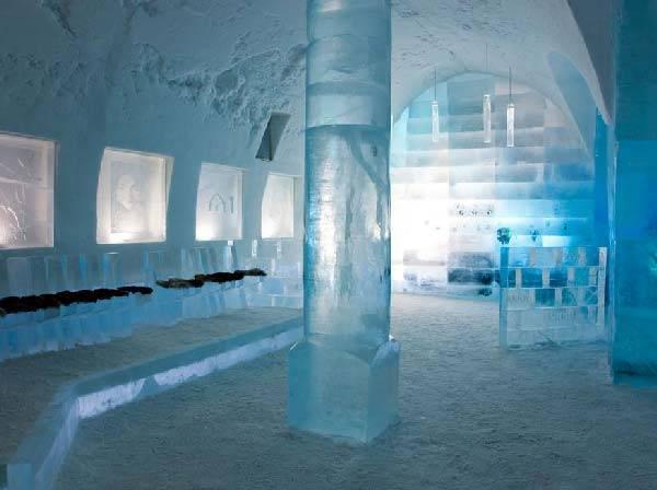 Королівство Снігової Королеви: незвичайний крижаний готель у Швеції (6)