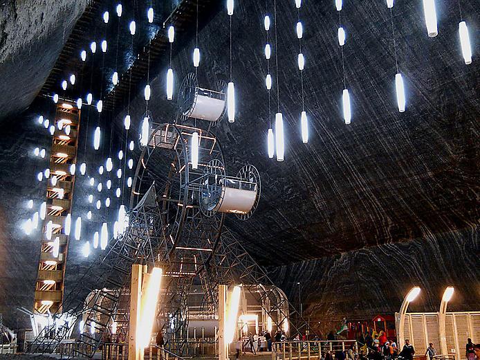 Соляна шахта в Турда. Нова печера Бетмена (4)