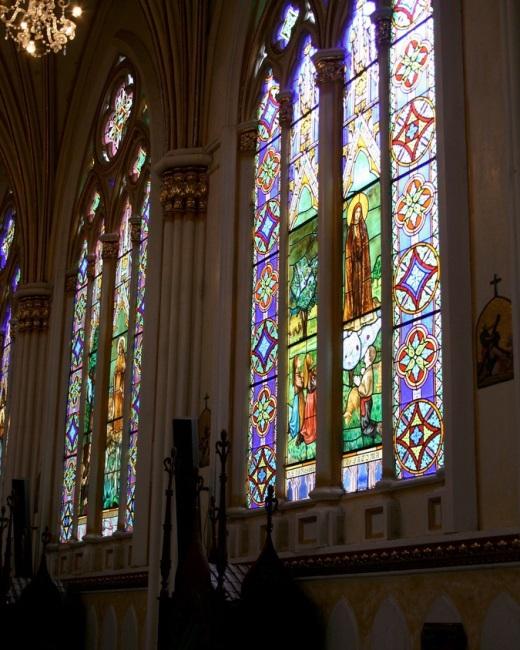 Грандіозний готичний собор Лас Лахас (Las Lajas Cathedral) в каньйоні річки, Колумбія (13)