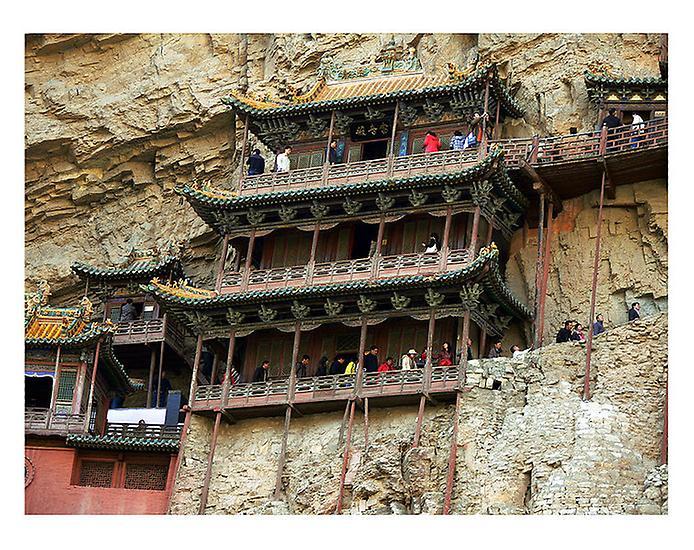 Один з найдивовижніших монастирів в світі — висячий храм гори Хенг (7)