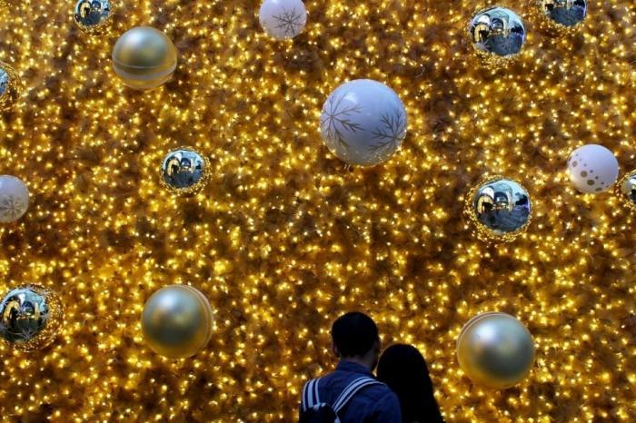 Золота ялинка в Сингапурі