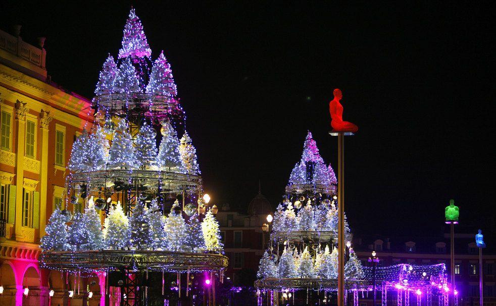 Варіації на тему Різдва в Ніцці, Франція.