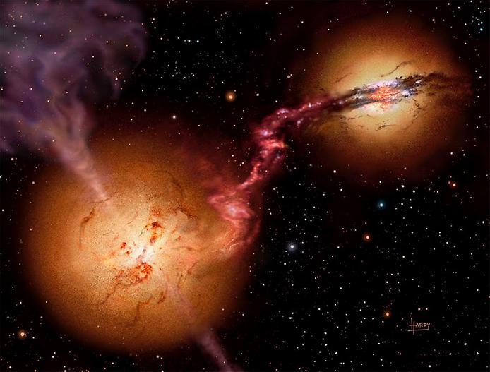 колосальне катастрофічне фото: дві надмасивних чорних діри, що рухаються до необоротного зіткнення!