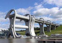 Колесо Фолкерк. Гігантський ліфт для човнів (6)