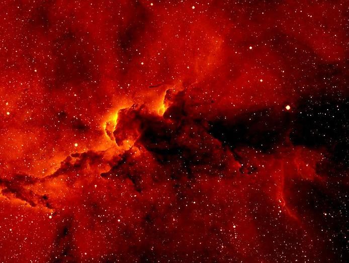 """А на цьому апокаліптичному фото зображена надмасивна зірка Ета Кіля, захоплюючу кулясту газову спалах навколо якої називають Гомункул, що з латинської перекладається як """"маленька людина"""""""