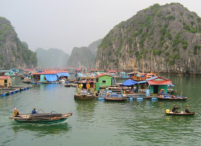 Плаваючі села острова Кат Ба у В'єтнамі (11)