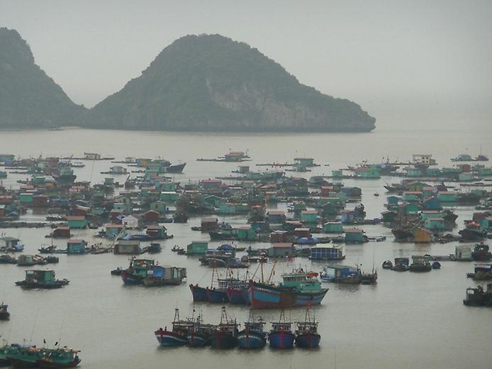 Плаваючі села острова Кат Ба у В'єтнамі (10)