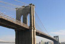 Бруклінський міст, Нью-Йорк (Закінчено в1883)