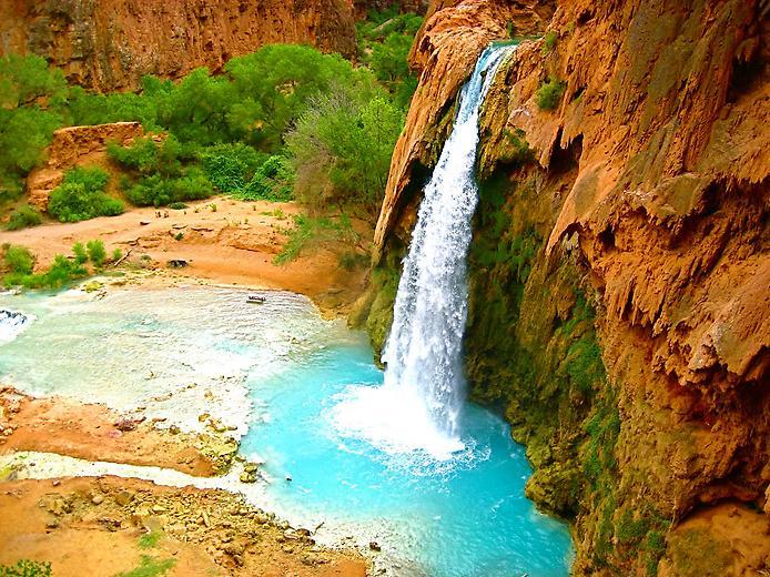 Водоспад Хавасу в Гранд Каньйоні (3)