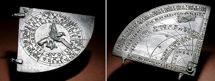 Сектор Астролябії Кентербері: середньовічна астролябія, зроблена в Англії близько 1383 н. е.