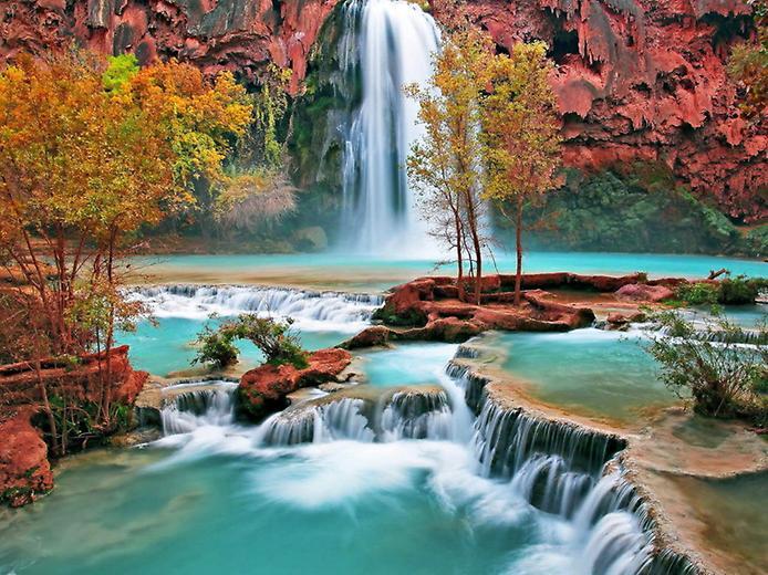 Водоспад Хавасу в Гранд Каньйоні (2)