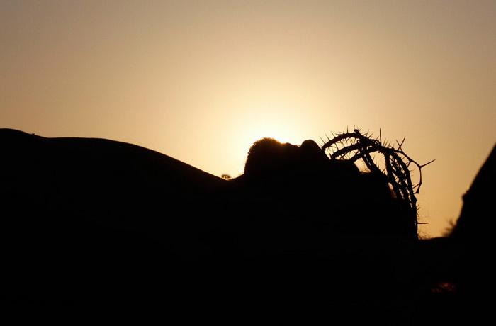 Мексика. Інсценування розп'яття Ісуса Христа у страсну п'ятницю