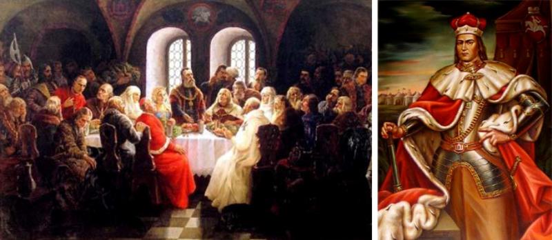 Князь Вітовт та З'їзд європейських монархів 1429 року у Луцьку на картині литовського художника Рімантаса Мацкявічуса