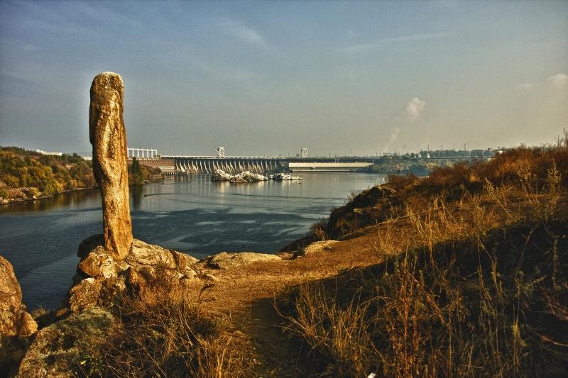 Краєвид на ДніпроГЕС фото: dimarya