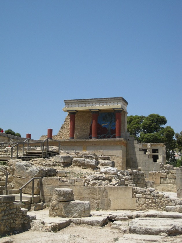 Палац царя Міноса Крит. Кносський палац - руїни величної споруди на острові Крит (10)