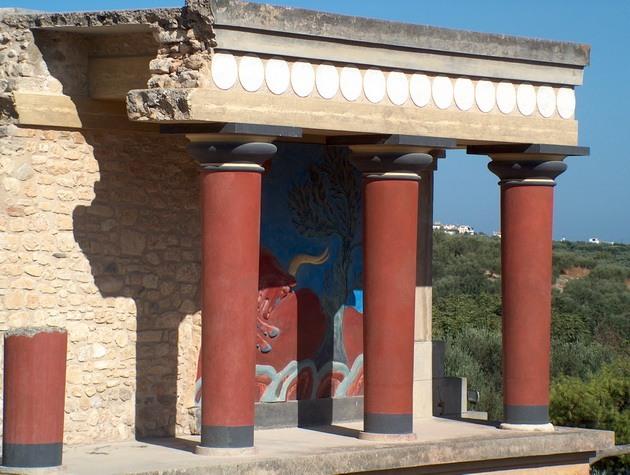 Палац царя Міноса Крит. Кносський палац - руїни величної споруди на острові Крит (6)