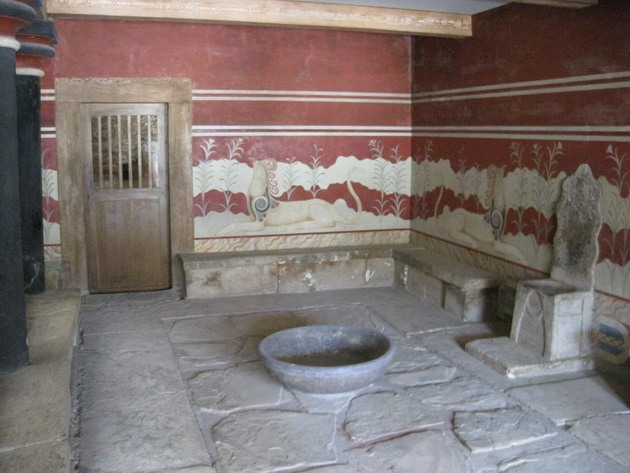 Палац царя Міноса Крит. Кносський палац - руїни величної споруди на острові Крит (5)