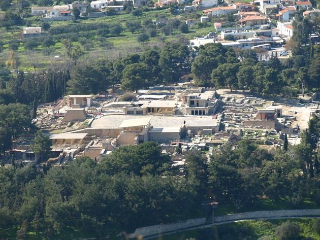 Палац царя Міноса Крит. Кносський палац - руїни величної споруди на острові Крит (1)