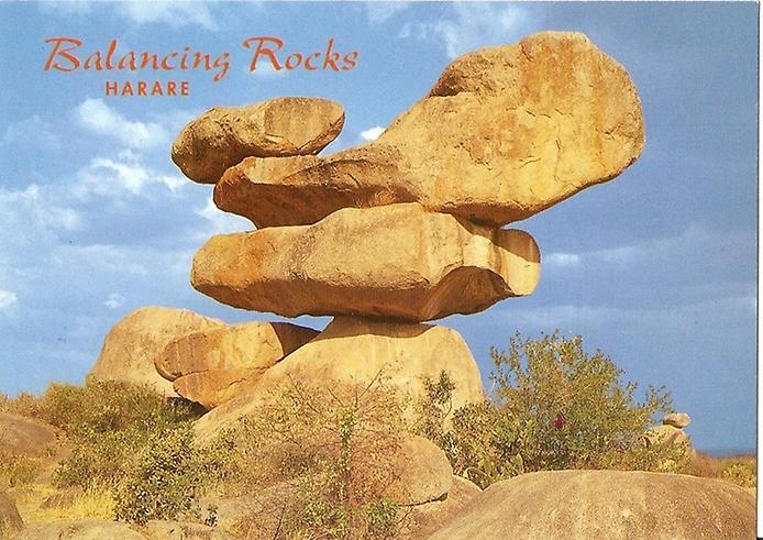 Балансуючі скелі Чіремба в Зімбабве