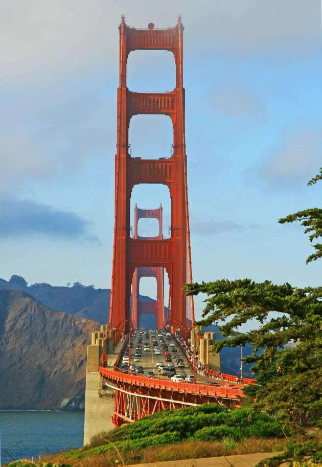 Міст «Золоті Ворота» візитка картка США та символ Сан-Франциско (9)