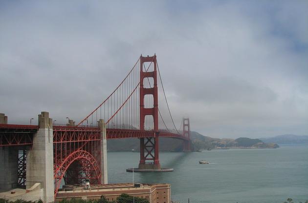 Міст «Золоті Ворота» візитка картка США та символ Сан-Франциско (5)