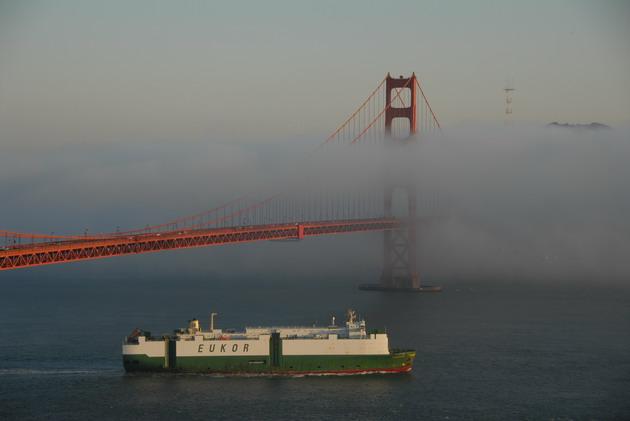 Міст «Золоті Ворота» візитка картка США та символ Сан-Франциско (4)