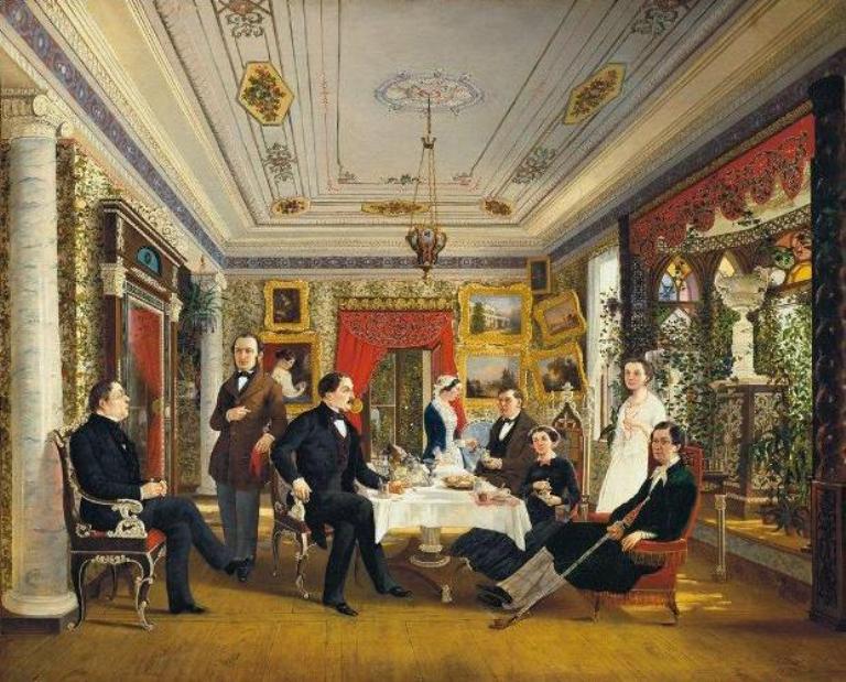 Кімната палацу, яка носила назву «Ліхтарик», зображена на полотні Олексія Волоскова