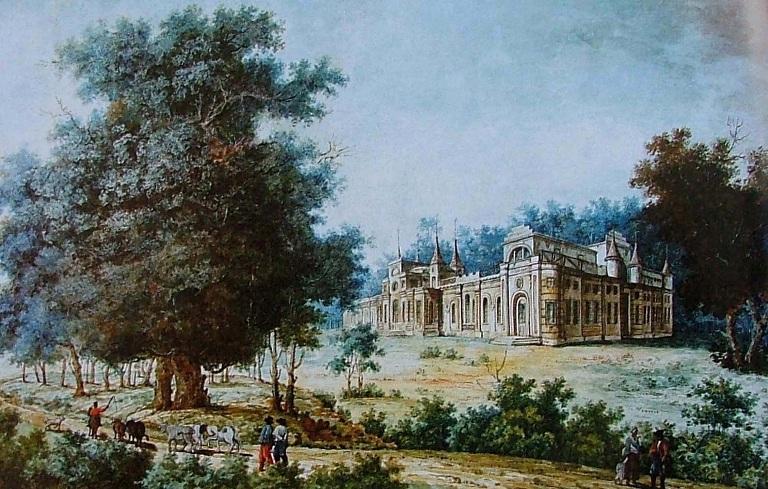 О. Кунавін. Палац Рум'янцева у Качанівці. Кінець 18 століття