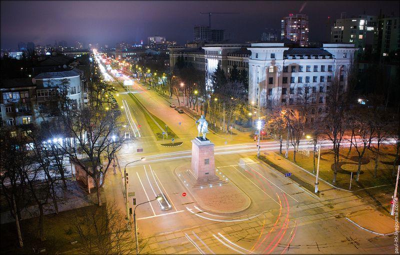 Харків - вид з дахів (Проспект Леніна.)