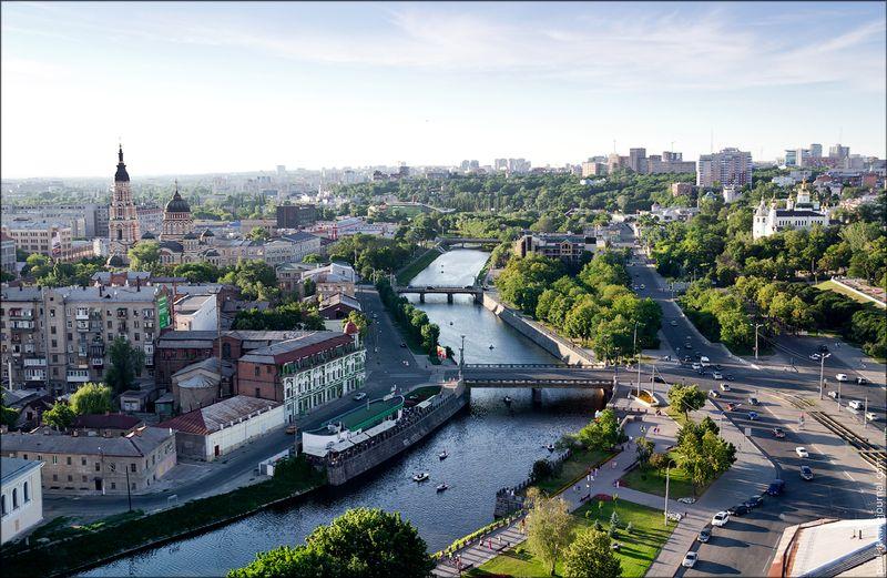 Харків - вид з дахів (Набережна.)