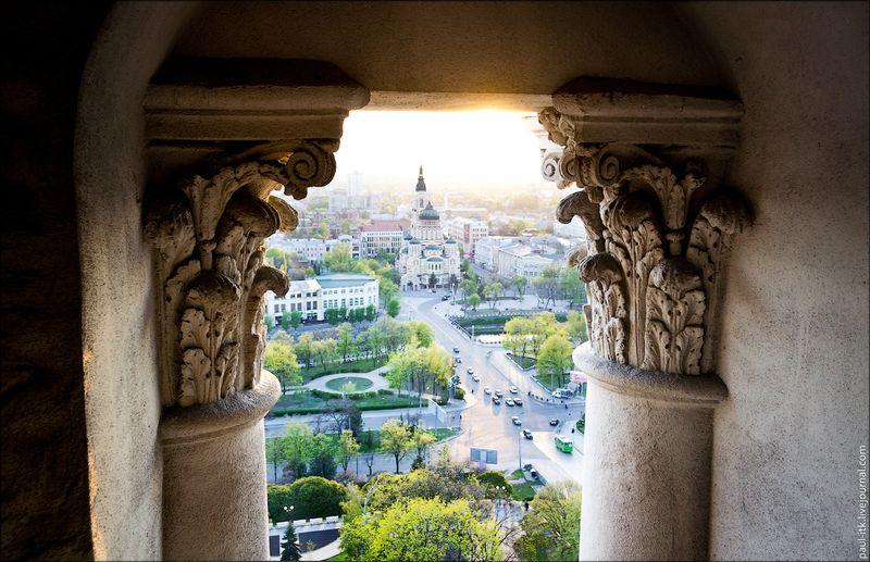 Харків - вид з дахів (Успенський собор.)