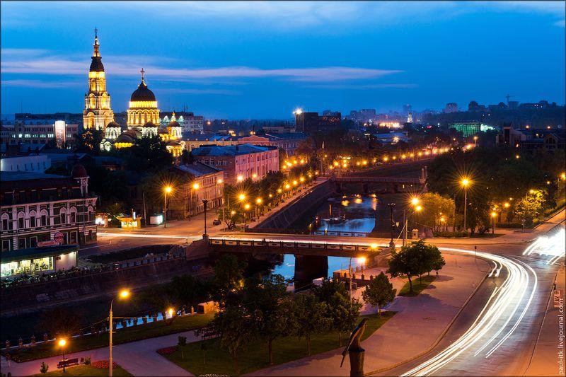 Харків - вид з дахів (Лопанський міст.)