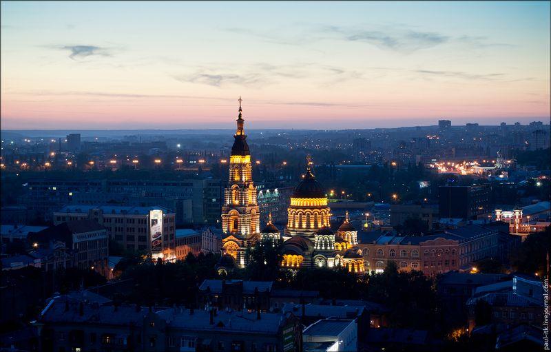 Харків - вид з дахів (Благовіщенський собор.)