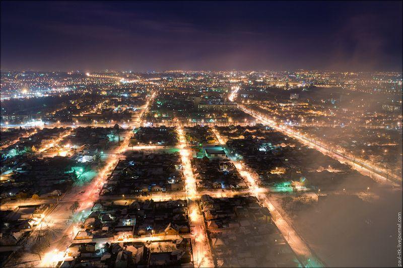 Харків - вид з дахів (Нічний Харків з висоти 150 метрів.)