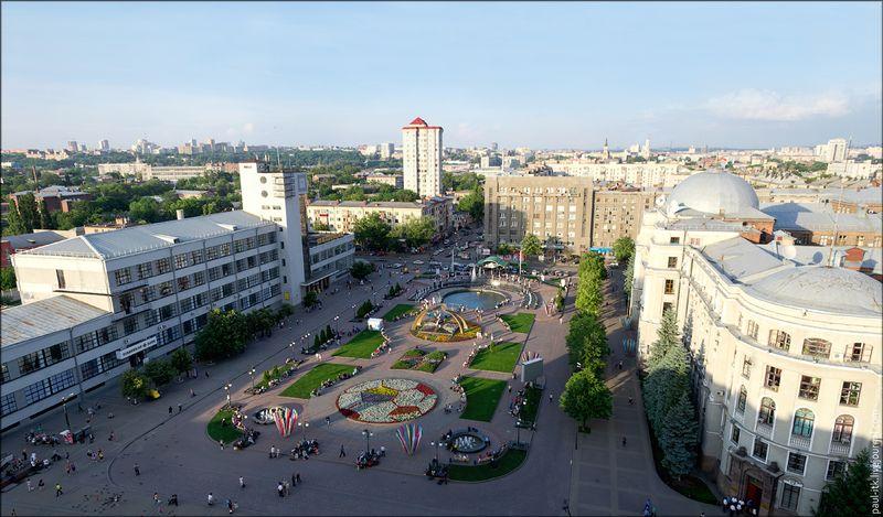 Харків - вид з дахів (Привокзальна площа.)