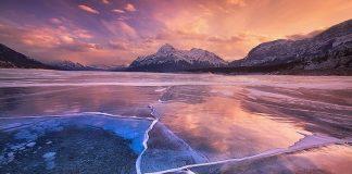 """Канадські зимові пейзажі: озеро Авраама, """"прикрашене"""" бульбашками повітря (5)"""