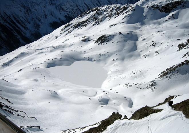 В Австрійських Альпах.