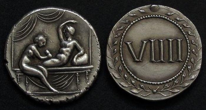 Стародавні монети з сексуальними сценами (3)