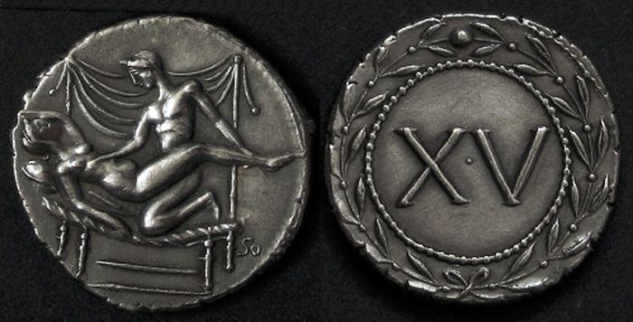 Стародавні монети з сексуальними сценами (2)
