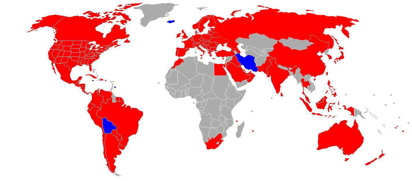 Карта поширеності мережі ресторанів McDonald's