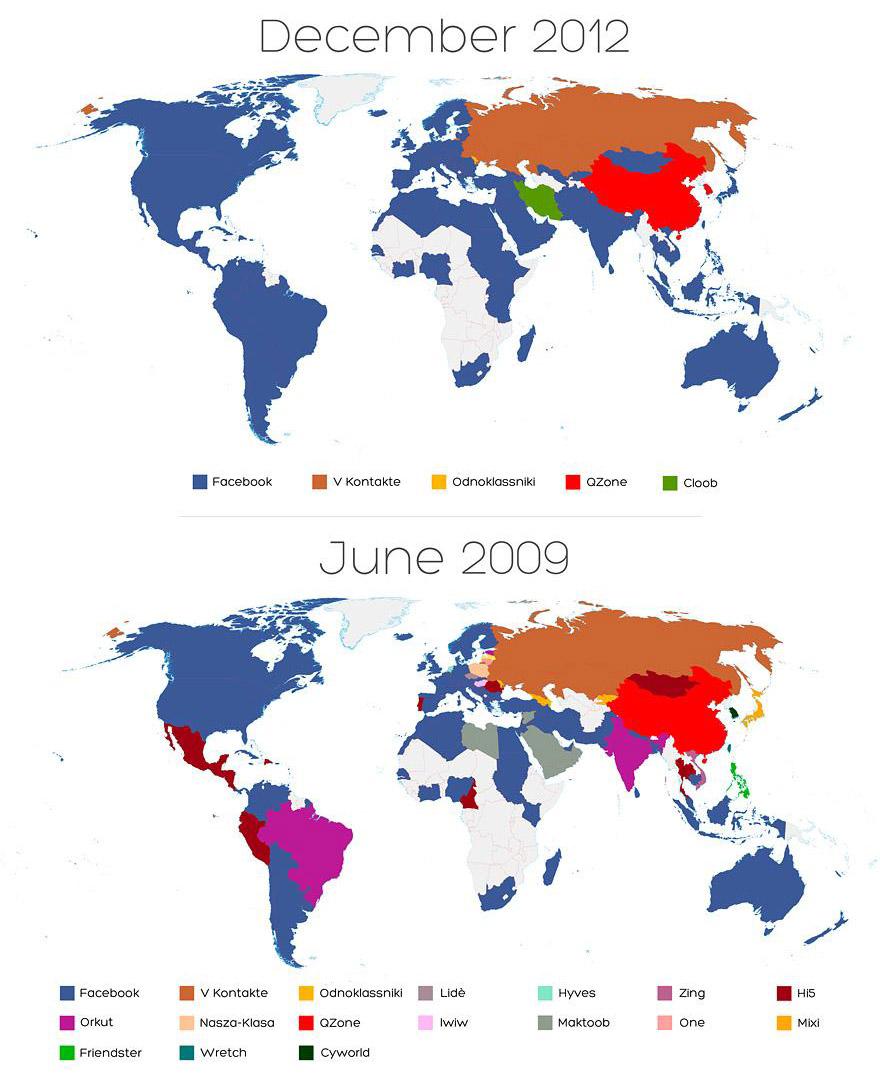 Карта захоплення світу соцмережами