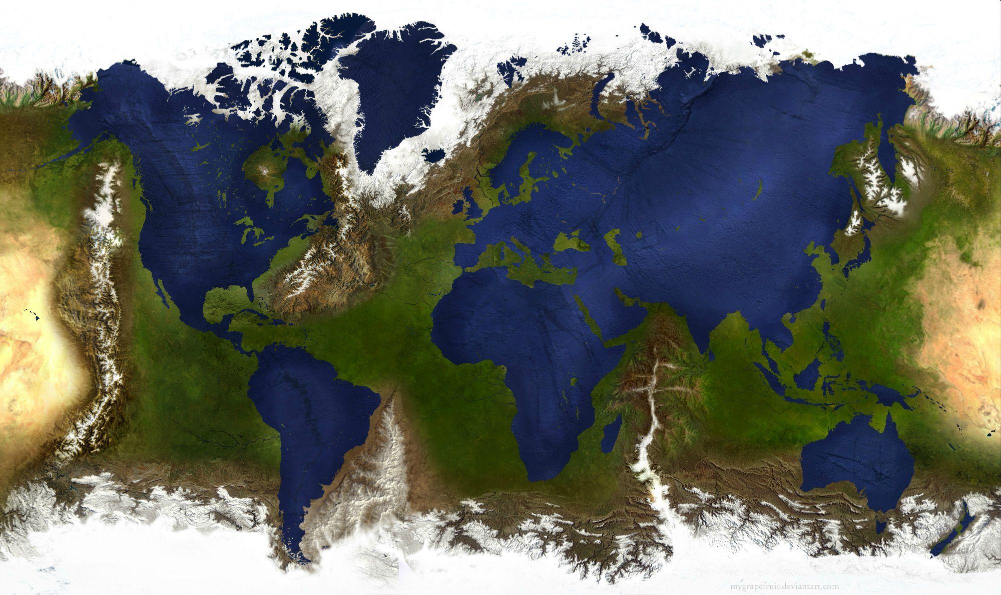 Як виглядав би світ, якби суша і океани помінялися місцями