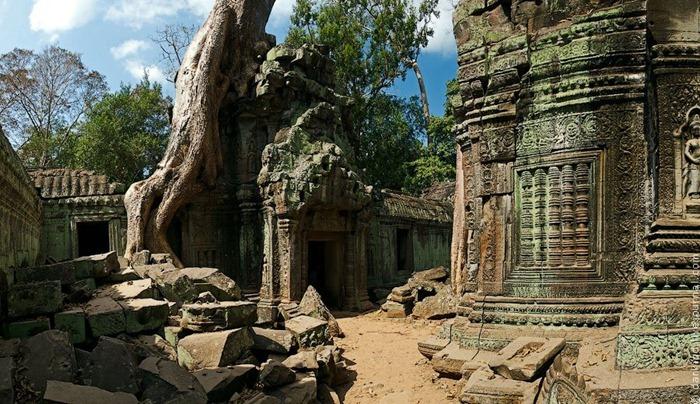 Симбіоз лісу і творіння людини: монастирський комплекс Та-Прохм (5)