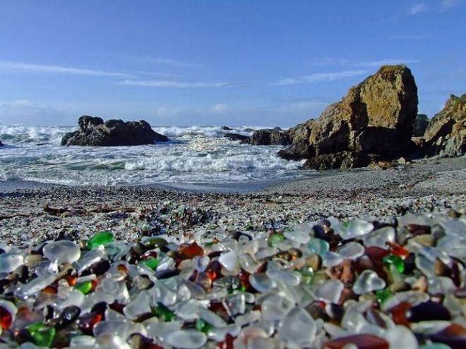 Скляний пляж, Форт Брегг, Каліфорнія, США
