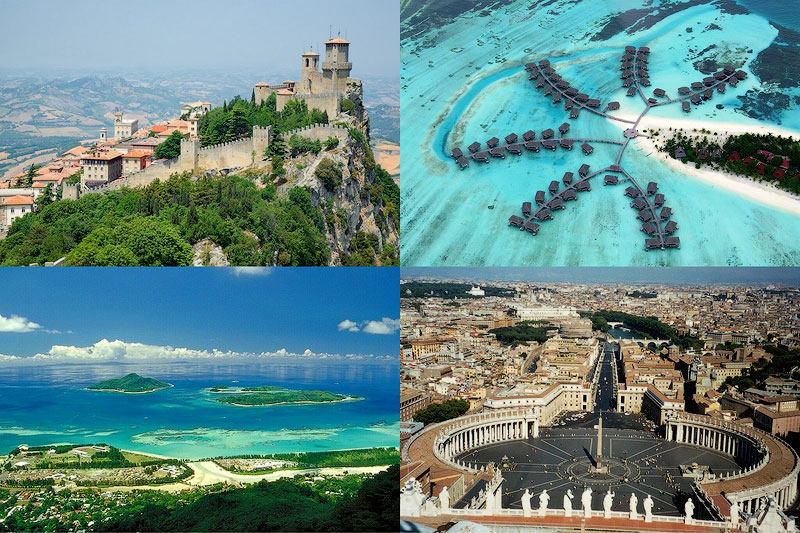 10 найменших унікальних країн в світі