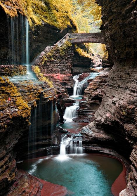 ущелина та водоспади, державний парк Уоткінс Глен (Watkins Glen State Park) (4)