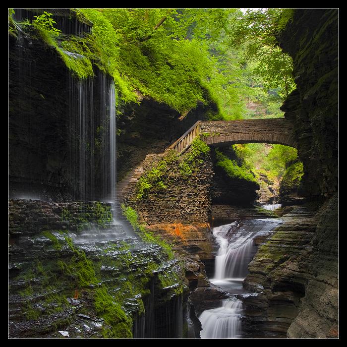 ущелина та водоспади, державний парк Уоткінс Глен (Watkins Glen State Park) (1)
